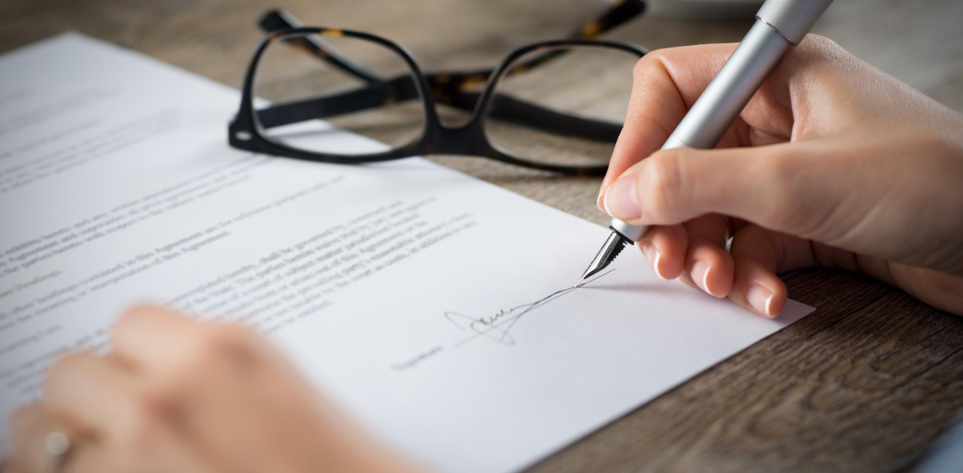 Firma di un documento