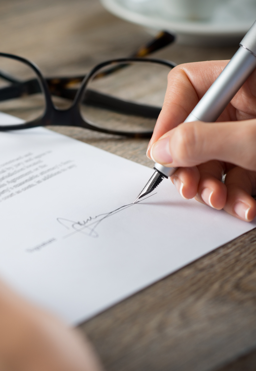 Signature of a document