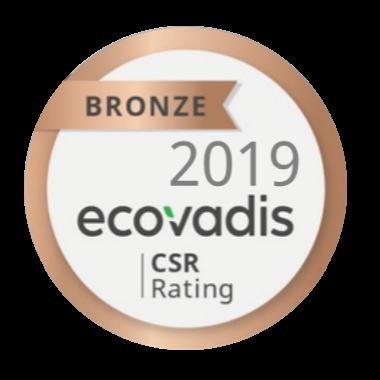 Ecovadis CSR Rating Bronze