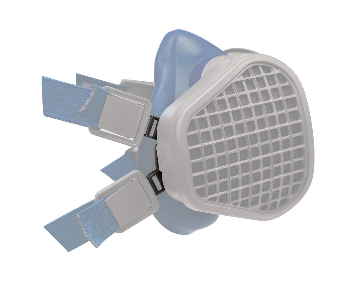 SPM564 Fibbie in plastica per maschere Elipse protezione gas ad Alta Efficienza, immagine 2