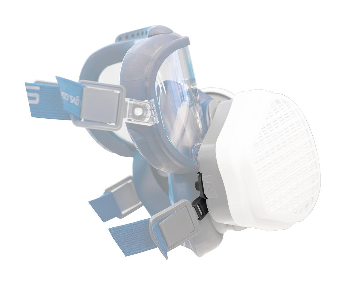 SPM567 Headband Connectors for Elipse Integra High Efficiency Gas Mask, image 2